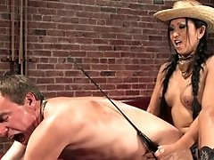 Mistress Kitty Langdon fucks her boy on a pool table