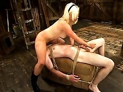Mistress Lorelei Lee rides pony boy