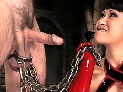 Asian Mistress Dragonlily teases slave boy